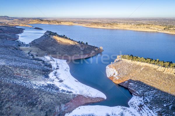 Horsetooth Reservoir aerial view Stock photo © PixelsAway