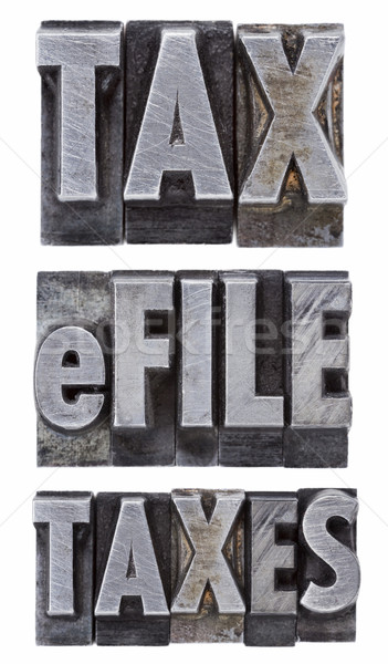 e-file taxes - tax concept Stock photo © PixelsAway