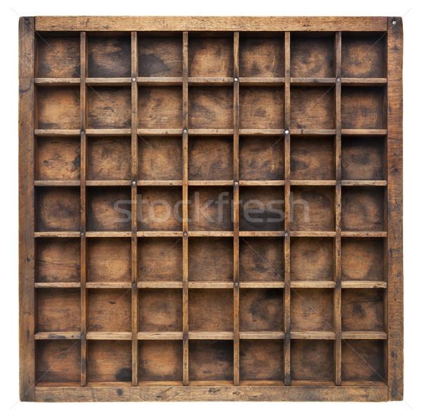 Vintage madera caso impresora cajón numeroso Foto stock © PixelsAway