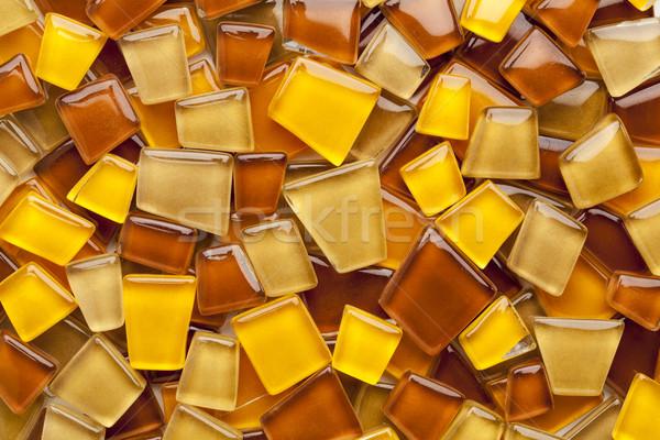 ámbar vidrio mosaico cuadros azar amarillo Foto stock © PixelsAway