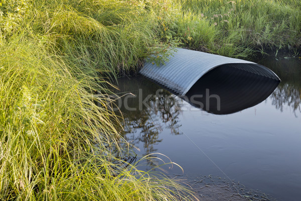 irrigation ditch with culvert Stock photo © PixelsAway