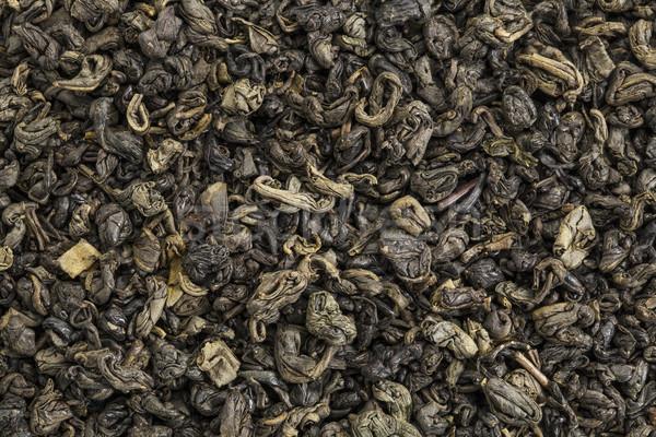 Pólvora chá verde textura solto folha pérola Foto stock © PixelsAway