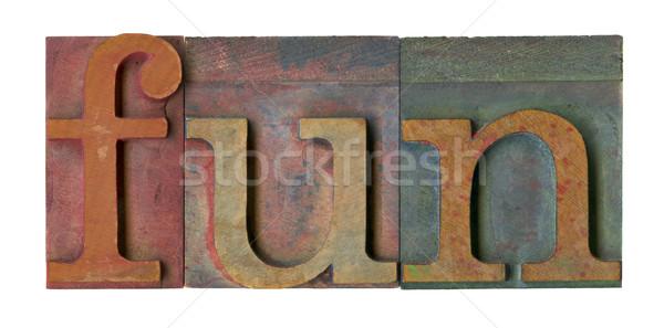 fun in vintage printing blocks Stock photo © PixelsAway