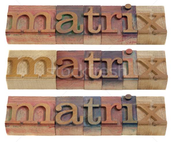 行列 言葉 ヴィンテージ 木製 印刷 ストックフォト © PixelsAway
