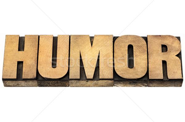 Humour mot bois type isolé texte Photo stock © PixelsAway