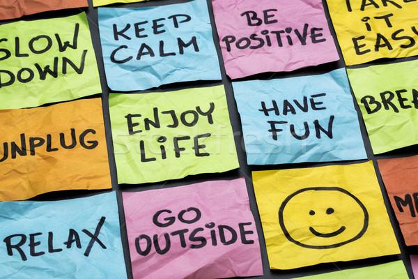 relax, keep calm, enjoy life Stock photo © PixelsAway