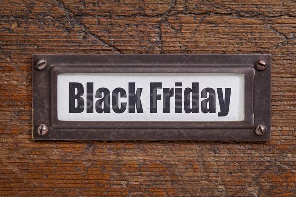 Black friday arquivo etiqueta bronze grunge Foto stock © PixelsAway
