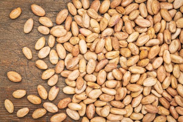 Cacau feijões orgânico resistiu madeira Foto stock © PixelsAway