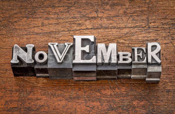 November month in metal type Stock photo © PixelsAway
