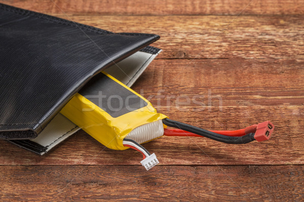LiPO battery in protective charging bag Stock photo © PixelsAway