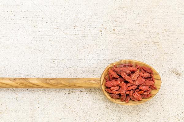 spoon of dried goji berries Stock photo © PixelsAway