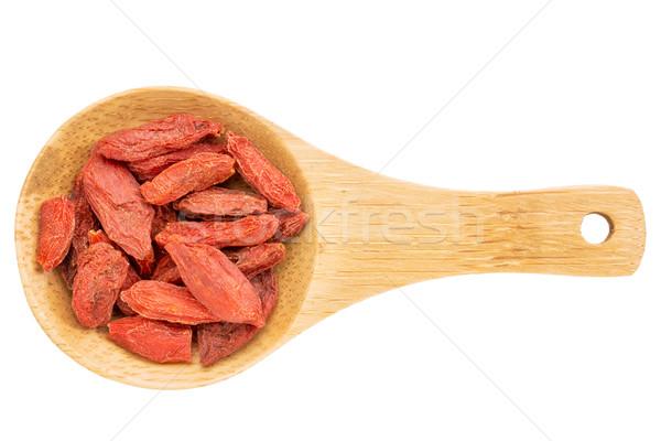 goji berries on wooden spoon Stock photo © PixelsAway