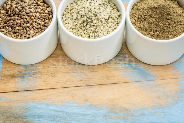 Sementes corações proteína pó produtos pequeno Foto stock © PixelsAway