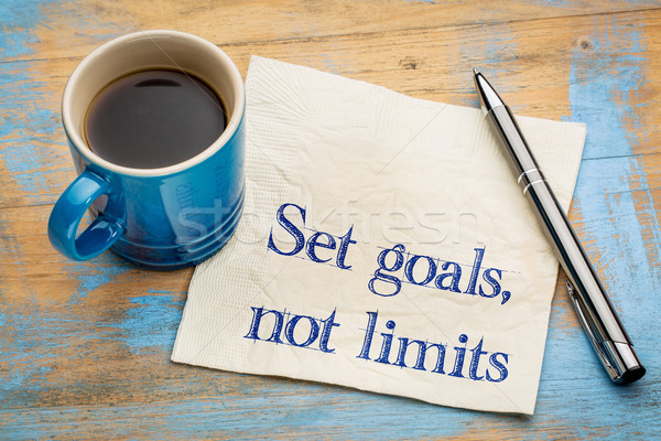 Ingesteld doelen geen herinnering advies Stockfoto © PixelsAway