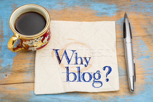 Why blog question on napkin Stock photo © PixelsAway