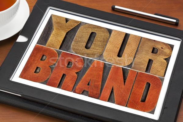 Stock photo: your brand word abstract