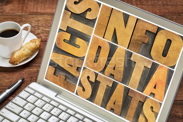 Informatie gegevens feiten woord abstract Stockfoto © PixelsAway