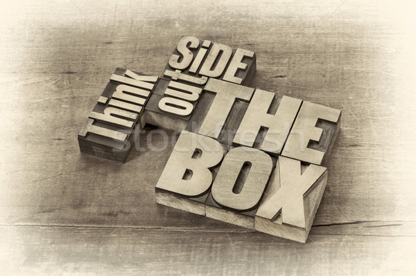 think outside the box word abstract Stock photo © PixelsAway