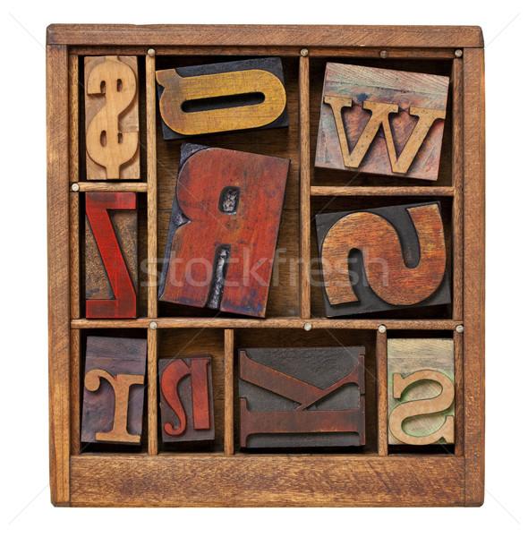 vintage letterpress printing blocks Stock photo © PixelsAway