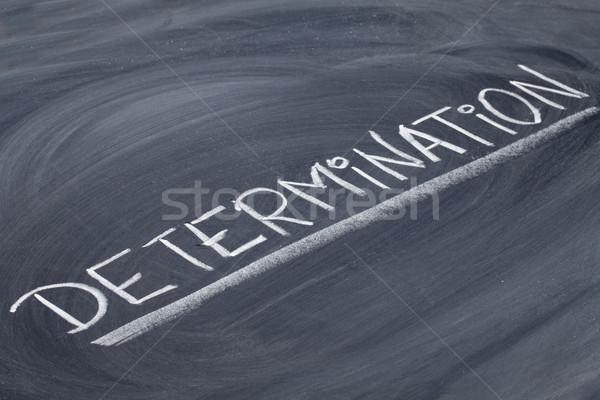 Determinazione parola lavagna bianco gesso calligrafia Foto d'archivio © PixelsAway