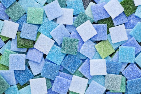 blue and green mosaic tiles Stock photo © PixelsAway