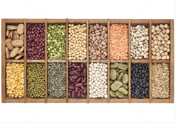 set of 16 legume samples Stock photo © PixelsAway