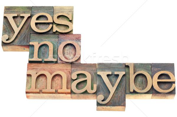 да нет древесины тип слово аннотация Сток-фото © PixelsAway