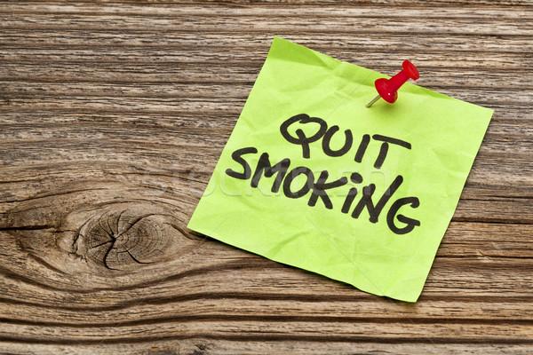 quit smoking reminder note Stock photo © PixelsAway