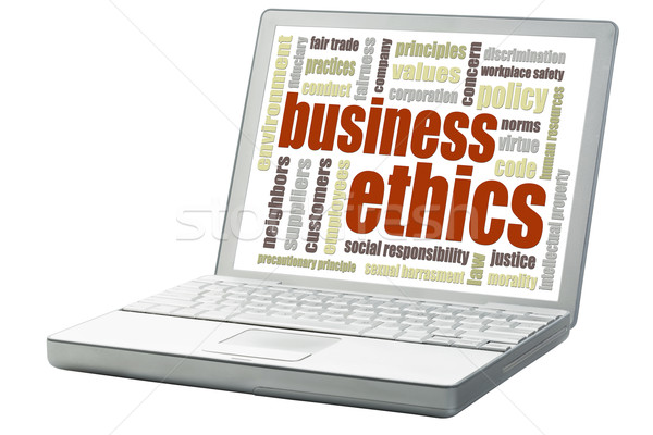 business ethics word cloud Stock photo © PixelsAway
