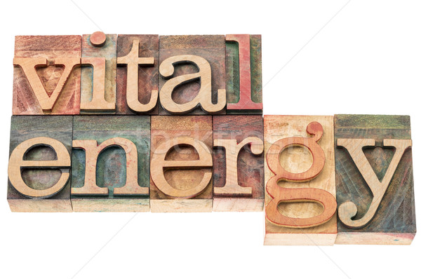 vital energy typography Stock photo © PixelsAway