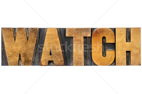 watch word typography Stock photo © PixelsAway