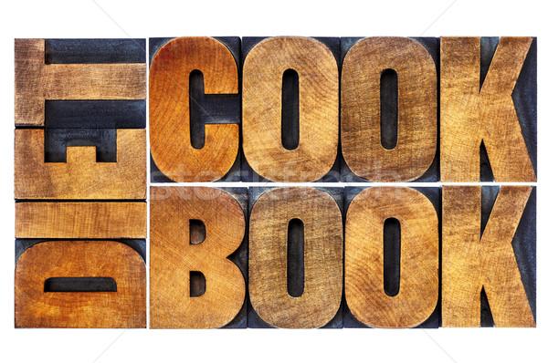 Diyet yemek kitabı kelime soyut ahşap tip Stok fotoğraf © PixelsAway