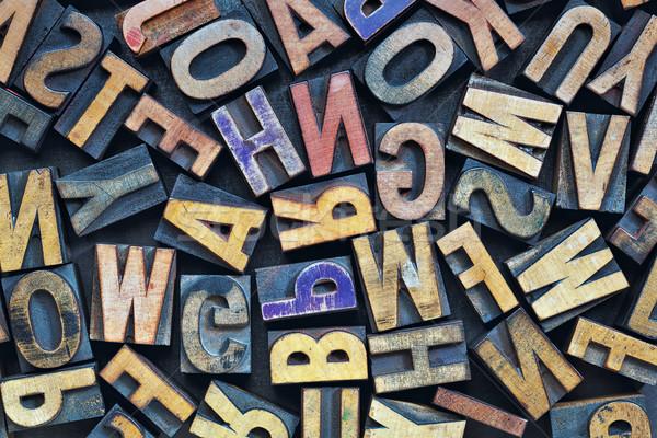 letterpress wood type printing blocks Stock photo © PixelsAway