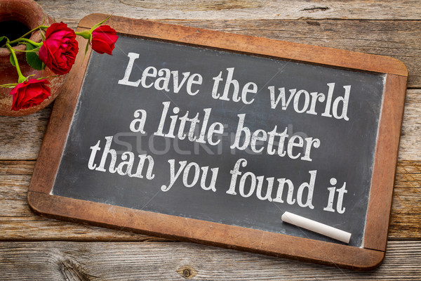 Abschied Welt wenig besser Leben Zweck Stock foto © PixelsAway
