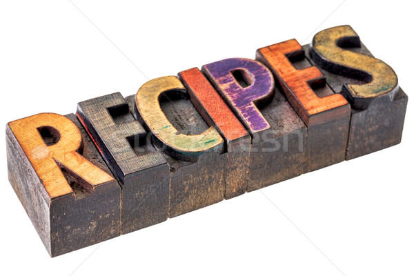 Receptek szalag fa izolált szöveg Stock fotó © PixelsAway