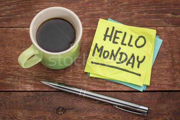 Hello Monday on sticky note Stock photo © PixelsAway