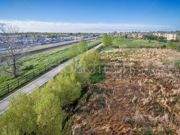 aerial view of bike trail Stock photo © PixelsAway