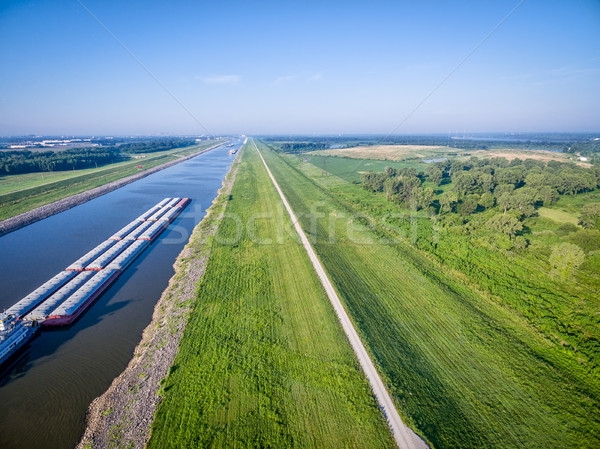 Chain of Rocks Canal aerial view Stock photo © PixelsAway