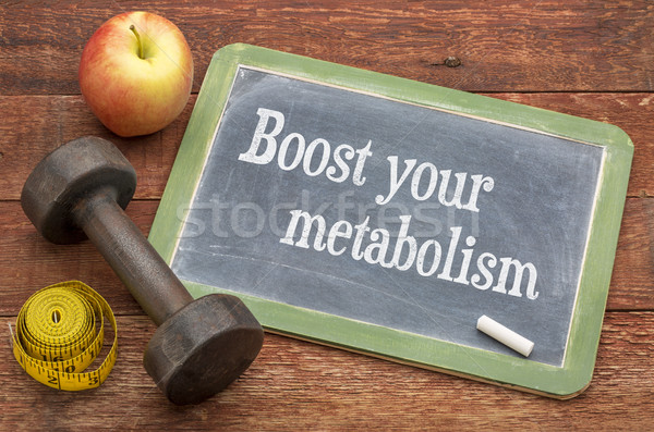Boost your metabolism blackboard sign Stock photo © PixelsAway