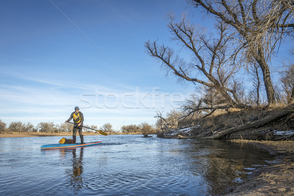 Expedition winter stand up paddling on South Platte RIver Stock photo © PixelsAway