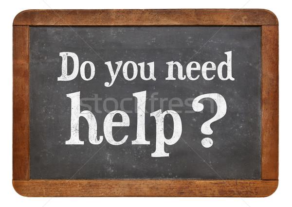 Szükség segítség fehér kréta szöveg klasszikus Stock fotó © PixelsAway