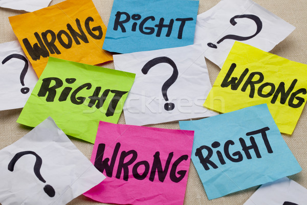 wrong or right ethical question Stock photo © PixelsAway