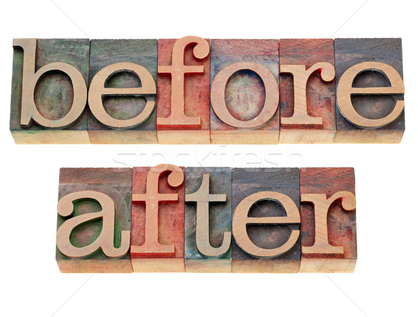 before and after words Stock photo © PixelsAway