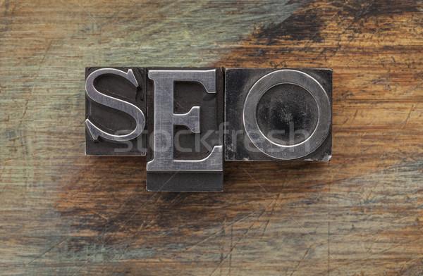 Seo keresőoptimalizálás betűszó klasszikus fém Stock fotó © PixelsAway