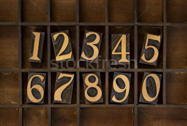 木材 番号 ヴィンテージ タイプ 10 ストックフォト © PixelsAway