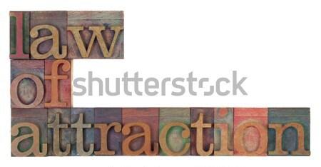 Produktivitás szó klasszikus fából készült magasnyomás nyomtatás Stock fotó © PixelsAway