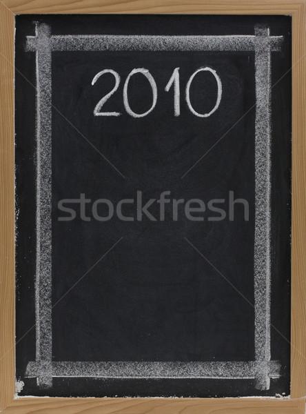 2010 witte krijt Blackboard exemplaar ruimte Stockfoto © PixelsAway