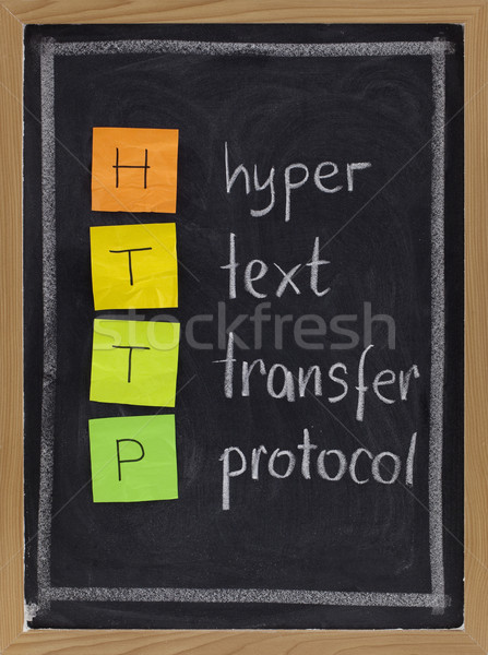 hyper text transfer protocol  - http acronym Stock photo © PixelsAway