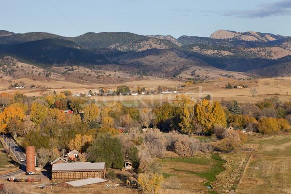 Colorado mountain village and farmland Stock photo © PixelsAway