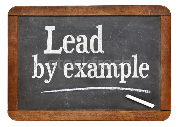 Lead by example Stock photo © PixelsAway